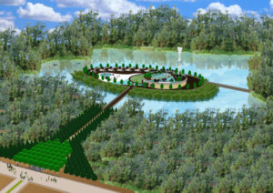 Green Technology Island for Kiev Islands Project (completion image)